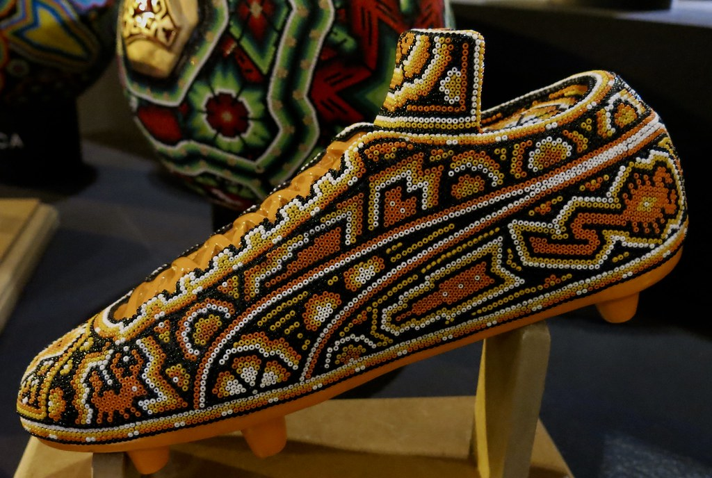 Football shoe , Huichol Art